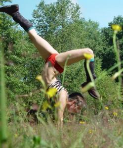 Katie-handstand